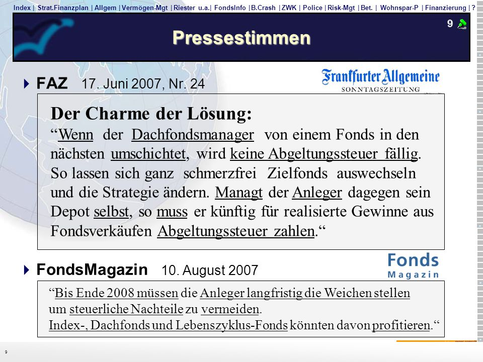 Pressestimmen 9. FAZ 17. Juni 2007, Nr. 24.