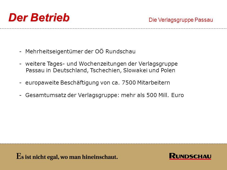 Der Betrieb Die Verlagsgruppe Passau