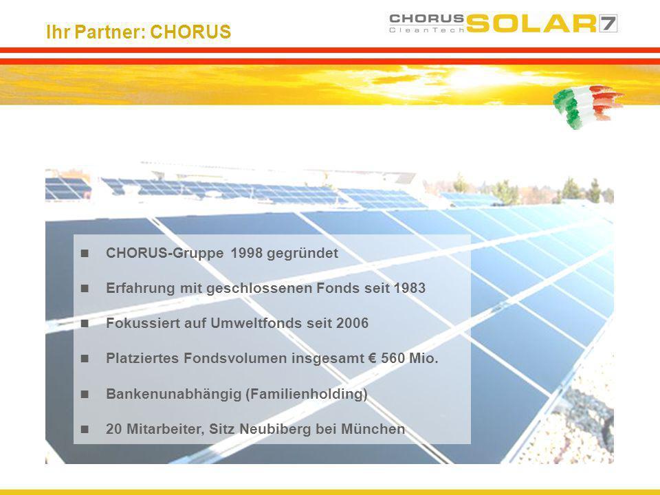 Ihr Partner: CHORUS CHORUS-Gruppe 1998 gegründet