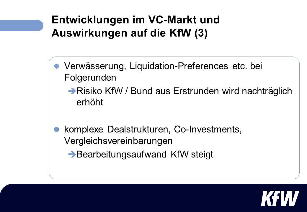 Entwicklungen im VC-Markt und Auswirkungen auf die KfW (3)
