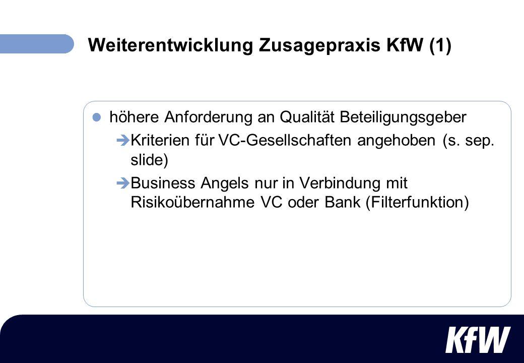 Weiterentwicklung Zusagepraxis KfW (1)