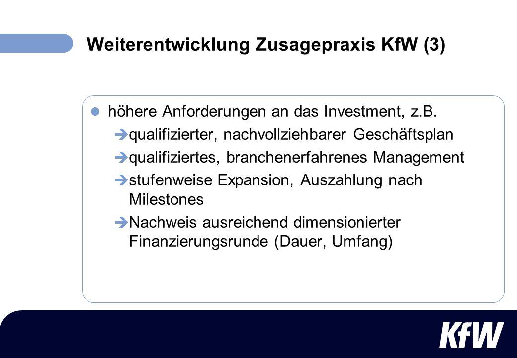 Weiterentwicklung Zusagepraxis KfW (3)