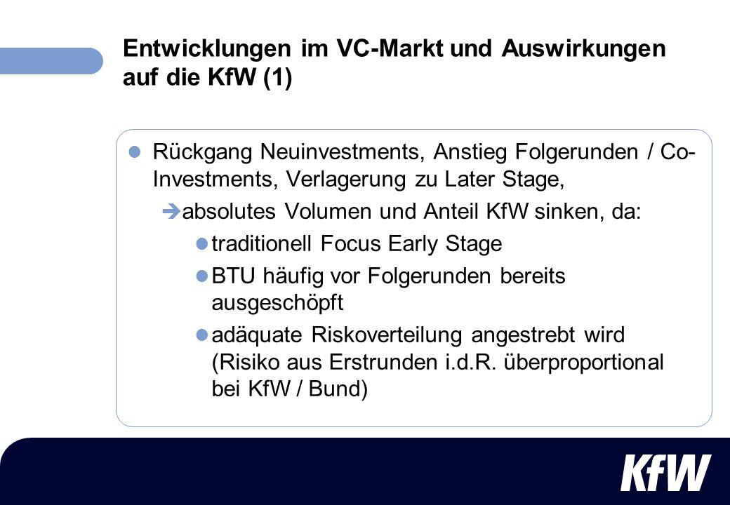 Entwicklungen im VC-Markt und Auswirkungen auf die KfW (1)