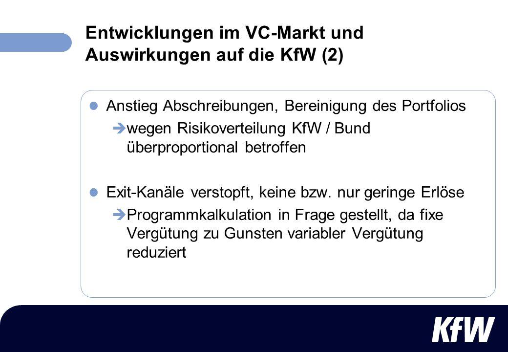 Entwicklungen im VC-Markt und Auswirkungen auf die KfW (2)
