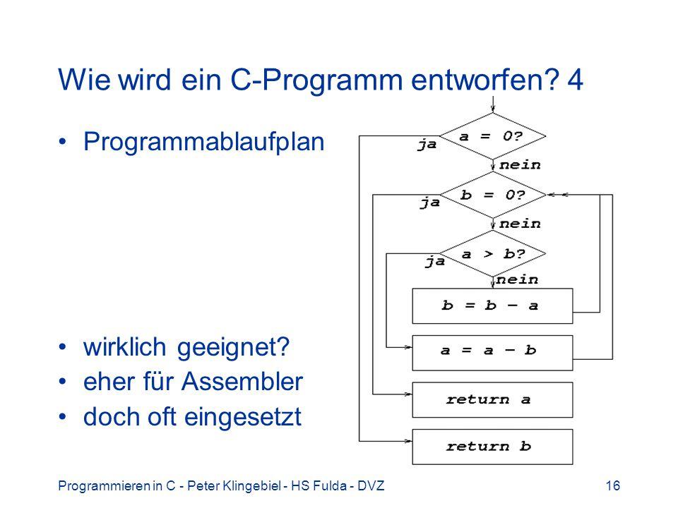 Wie wird ein C-Programm entworfen 4