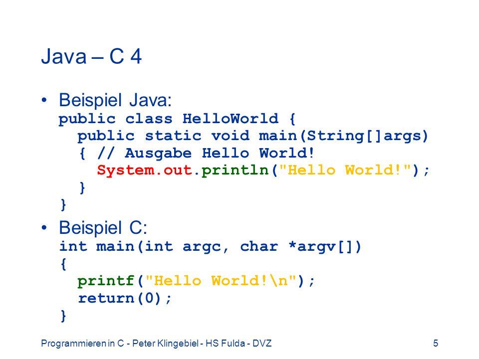Java – C 4