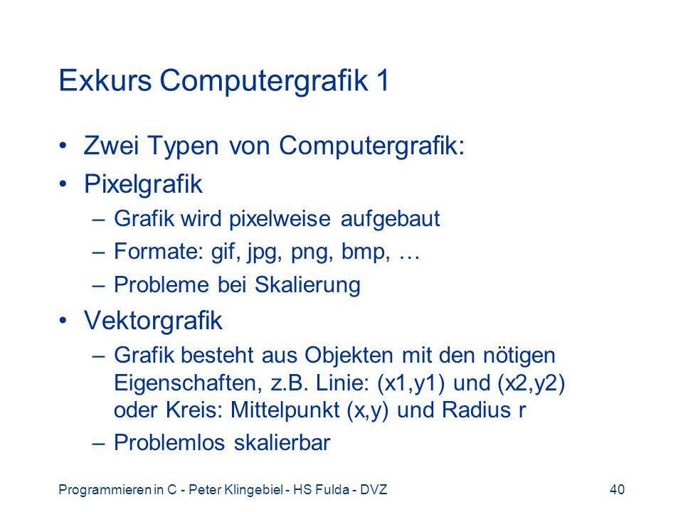 Exkurs Computergrafik 1