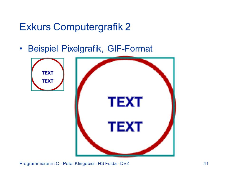 Exkurs Computergrafik 2
