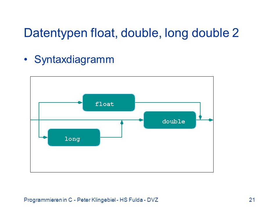 Datentypen float, double, long double 2
