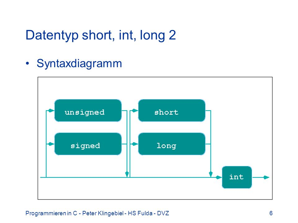 Datentyp short, int, long 2