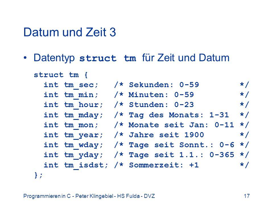 Datum und Zeit 3