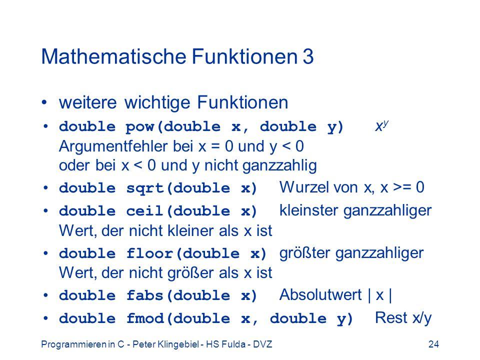 Mathematische Funktionen 3