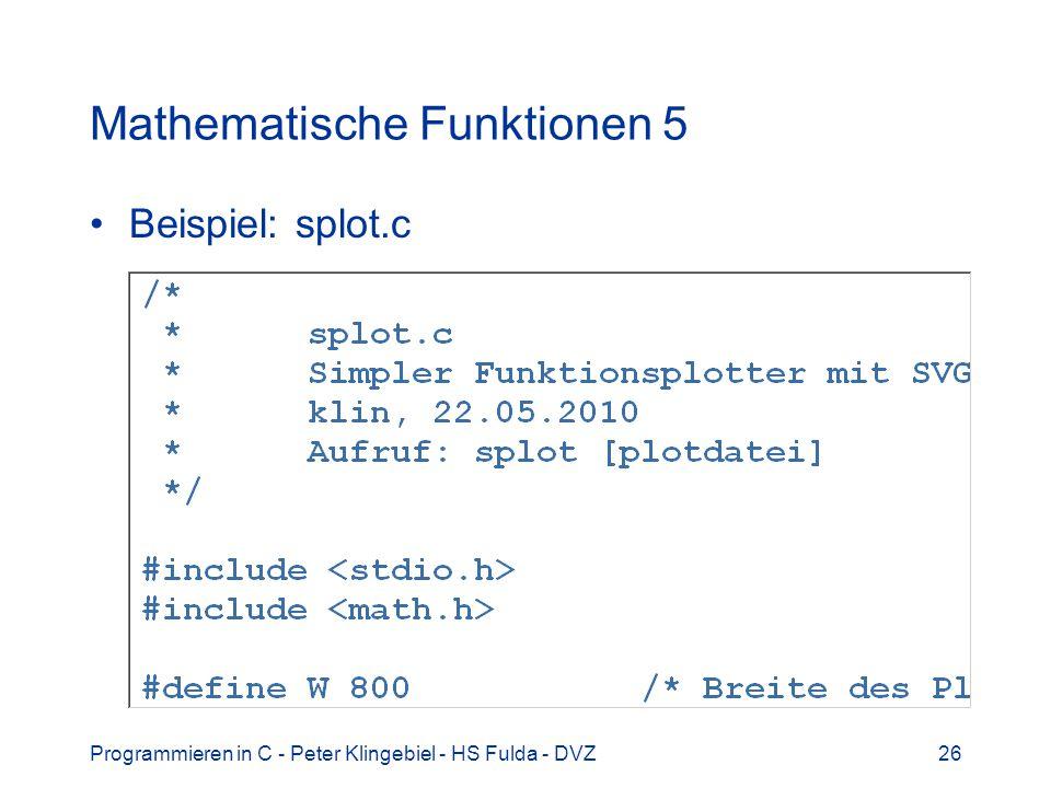 Mathematische Funktionen 5
