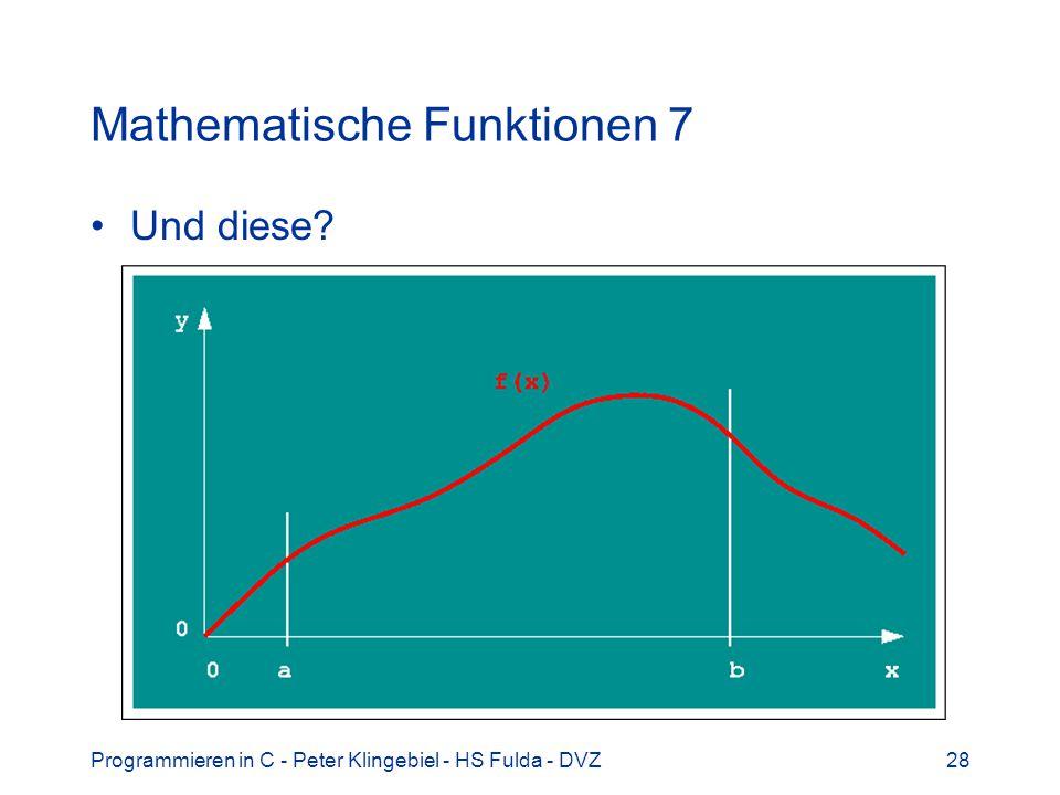 Mathematische Funktionen 7