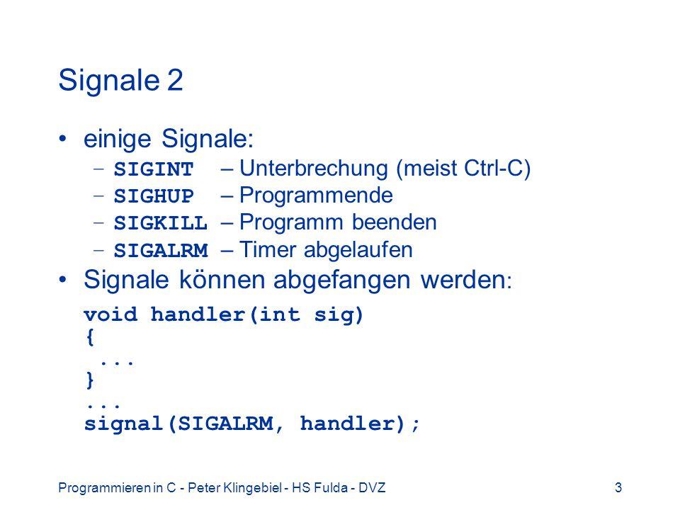 Signale 2 einige Signale: