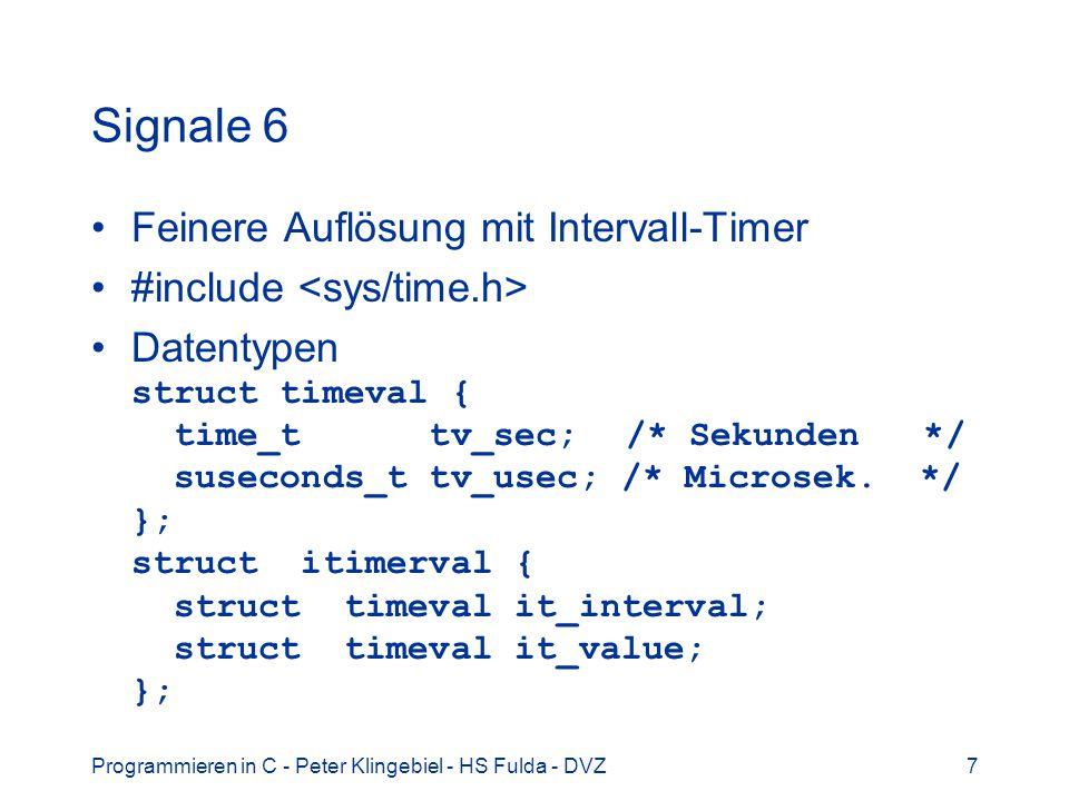 Signale 6 Feinere Auflösung mit Intervall-Timer