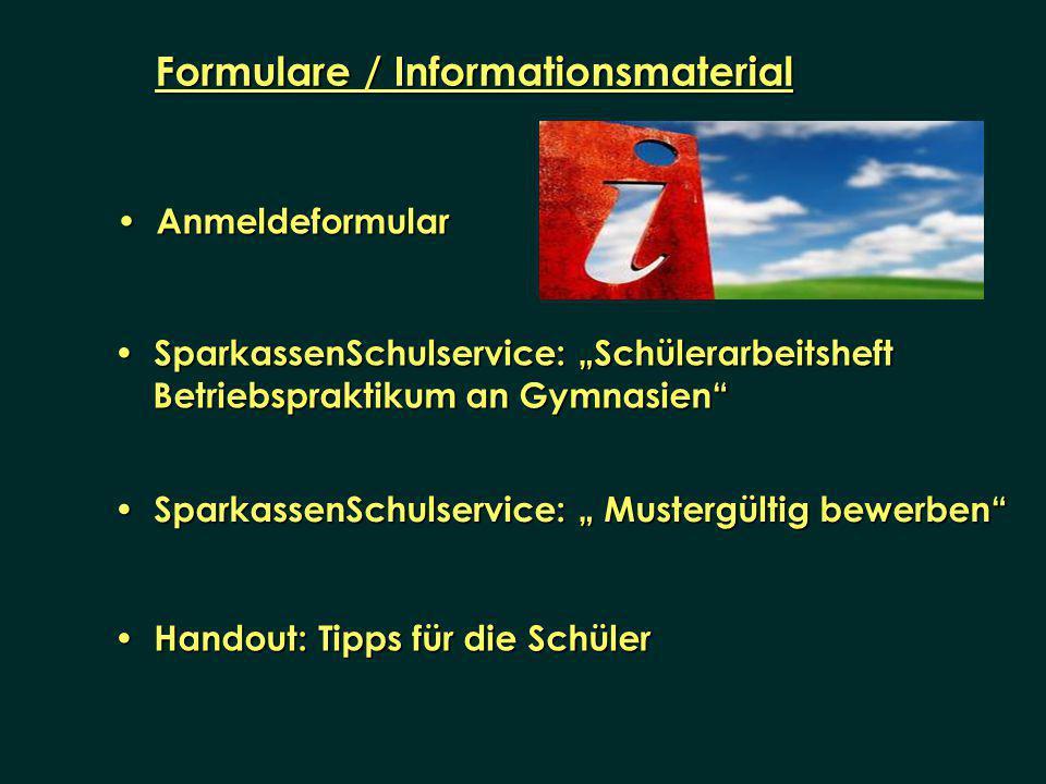 Formulare / Informationsmaterial