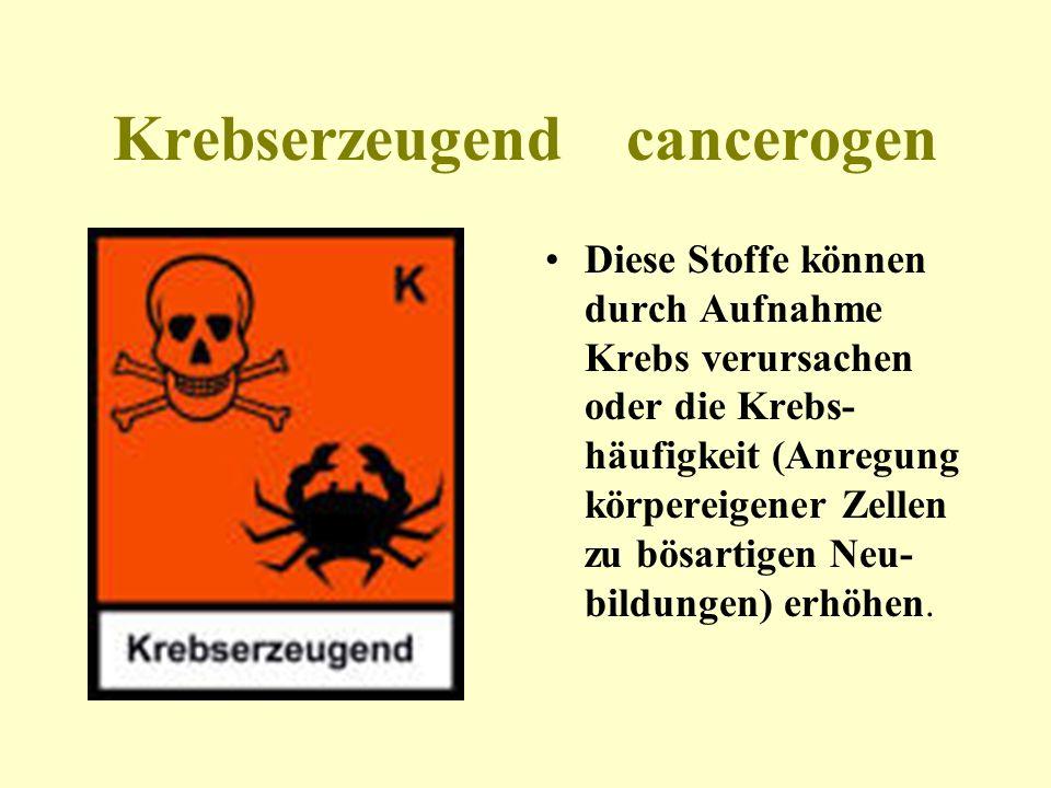 Krebserzeugend cancerogen
