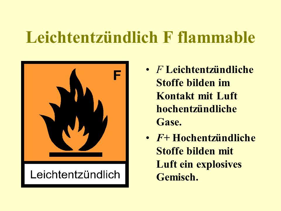 Leichtentzündlich F flammable