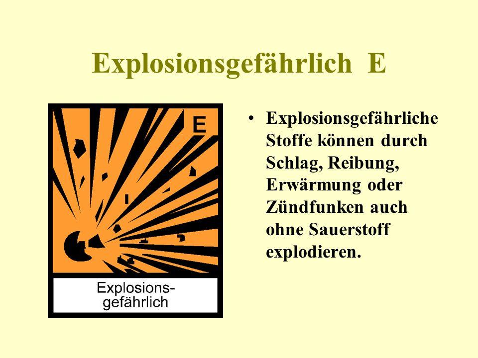Explosionsgefährlich E