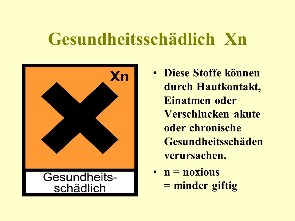 Gesundheitsschädlich Xn
