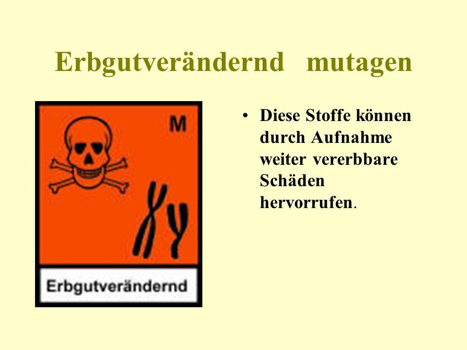 Erbgutverändernd mutagen