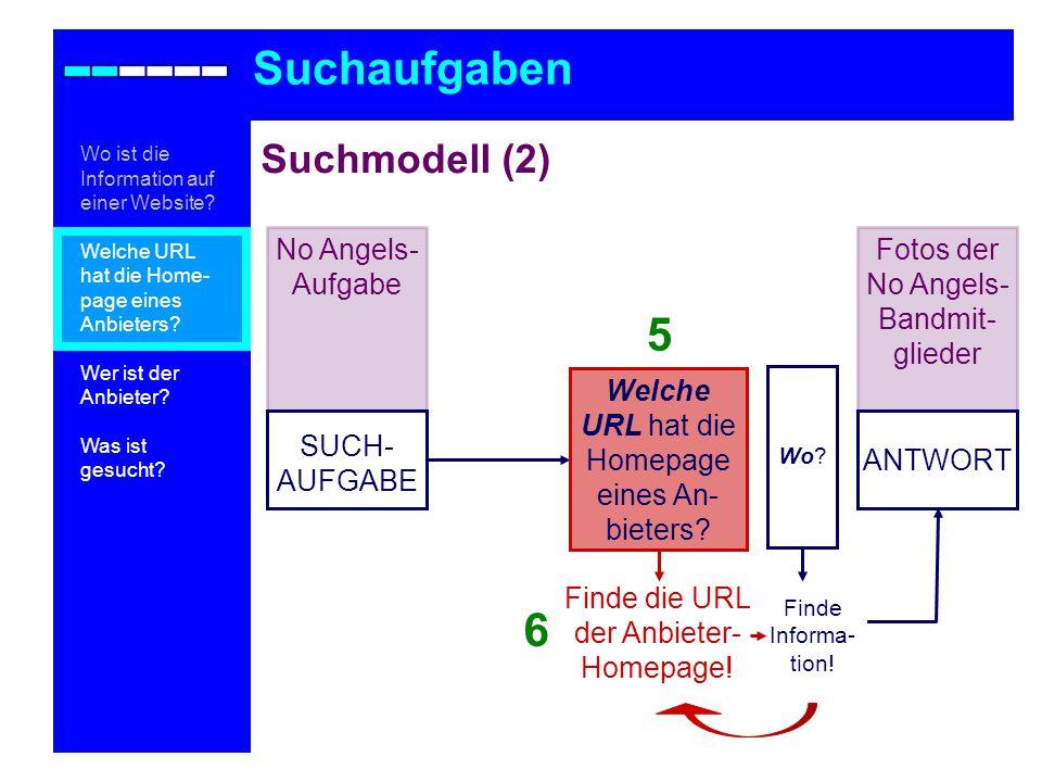 Suchaufgaben 5 6 Suchmodell (2) No Angels-Aufgabe