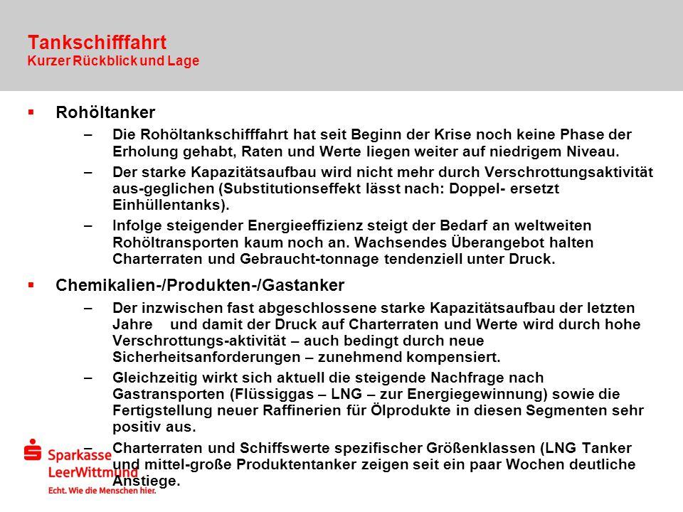 Tankschifffahrt Rohöltanker Chemikalien-/Produkten-/Gastanker