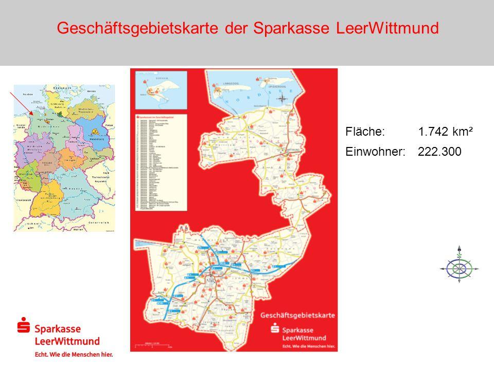 Geschäftsgebietskarte der Sparkasse LeerWittmund