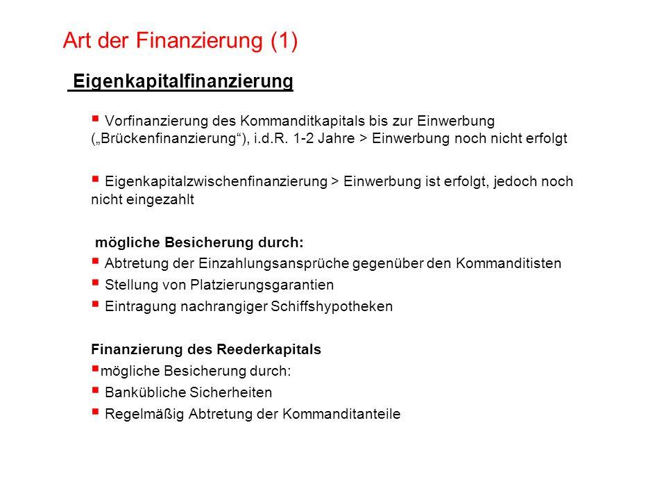 Art der Finanzierung (1)
