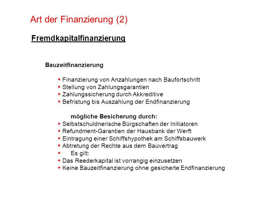Art der Finanzierung (2)