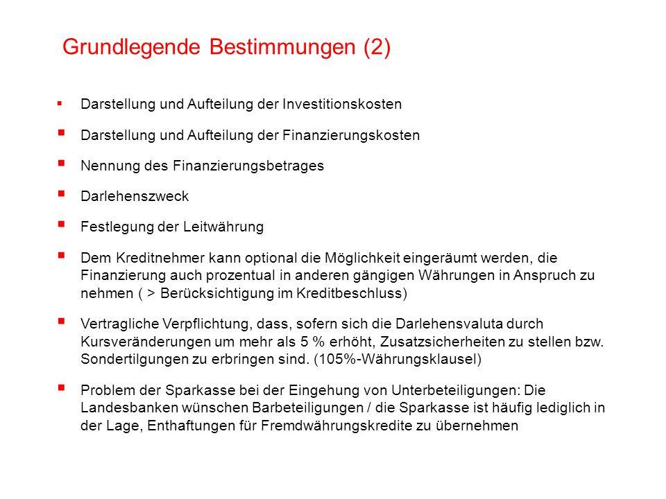 Grundlegende Bestimmungen (2)