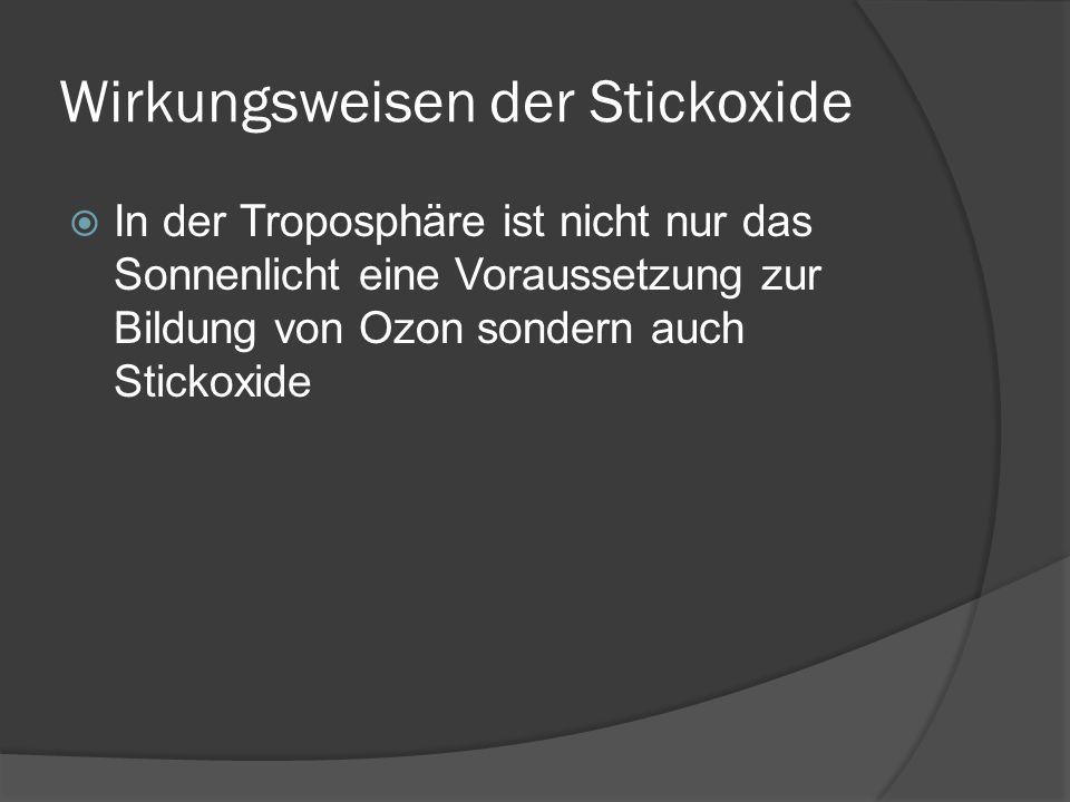 Wirkungsweisen der Stickoxide