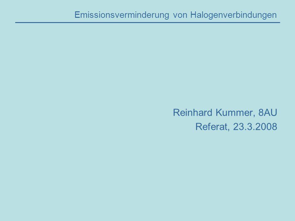Emissionsverminderung von Halogenverbindungen