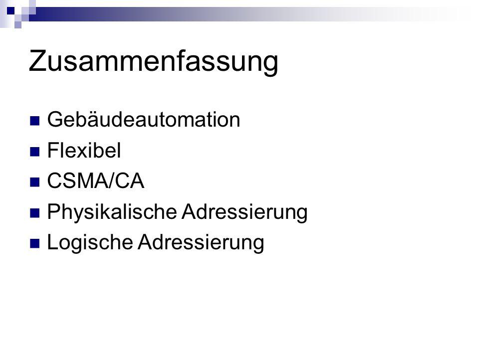 Zusammenfassung Gebäudeautomation Flexibel CSMA/CA