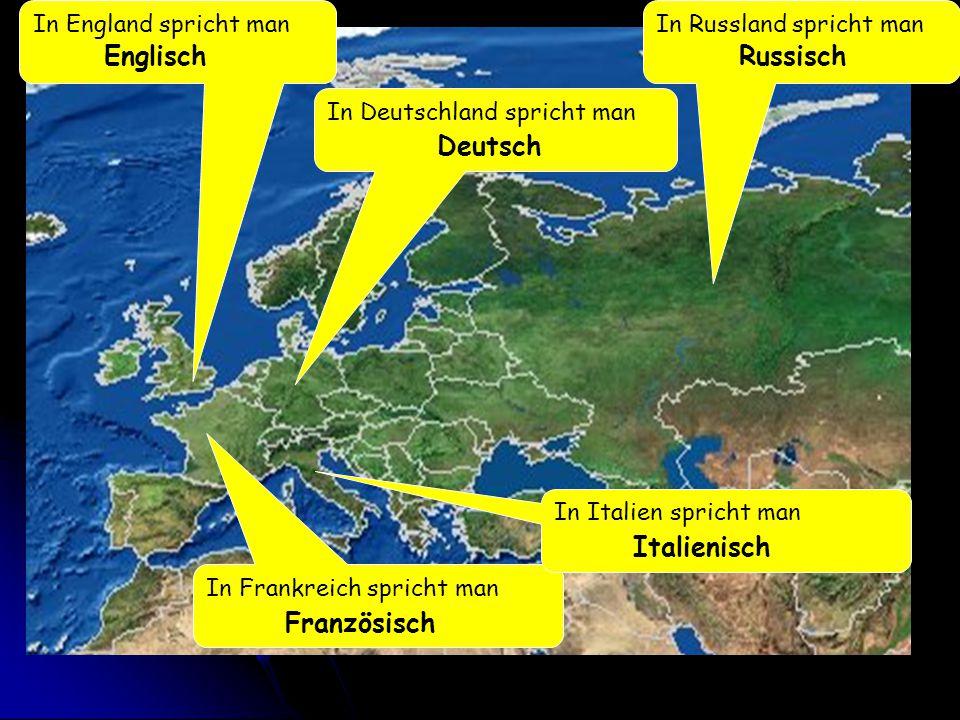 Englisch Russisch Deutsch Italienisch Französisch