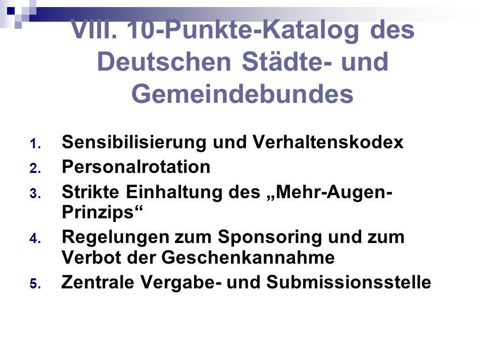 VIII. 10-Punkte-Katalog des Deutschen Städte- und Gemeindebundes