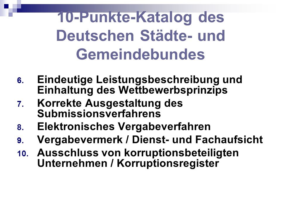 10-Punkte-Katalog des Deutschen Städte- und Gemeindebundes