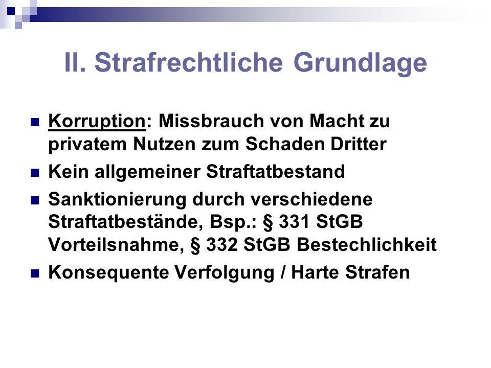 II. Strafrechtliche Grundlage