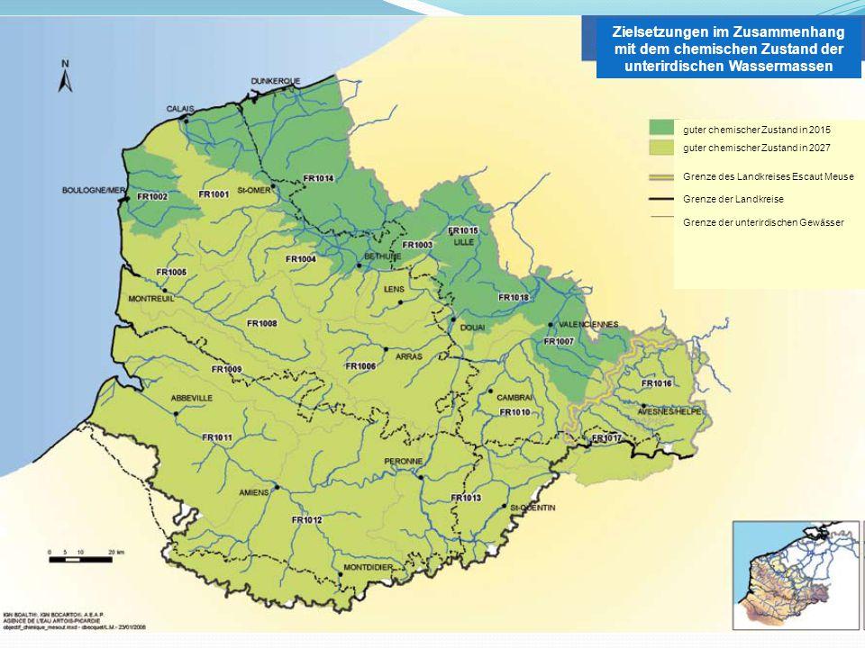 Zielsetzungen im Zusammenhang mit dem chemischen Zustand der unterirdischen Wassermassen