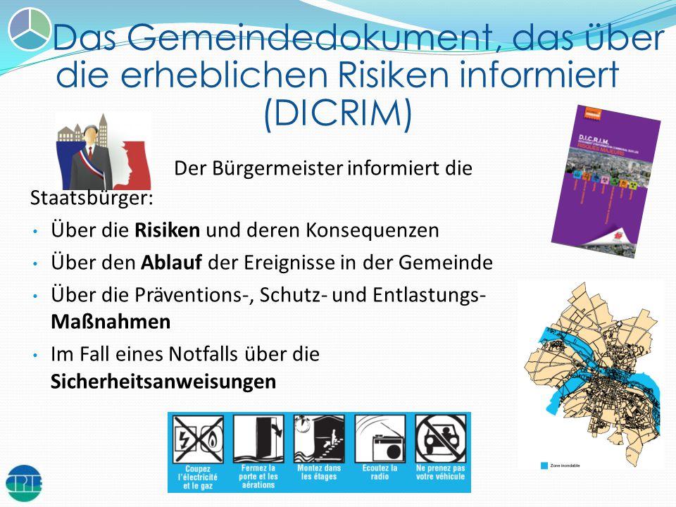 Das Gemeindedokument, das über die erheblichen Risiken informiert (DICRIM)