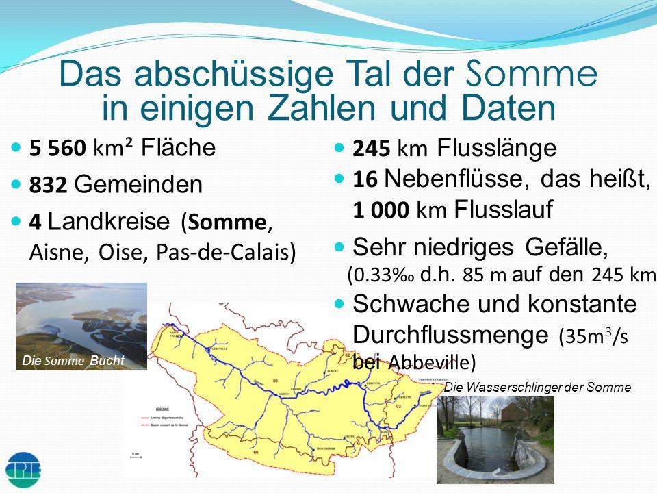 Das abschüssige Tal der Somme in einigen Zahlen und Daten