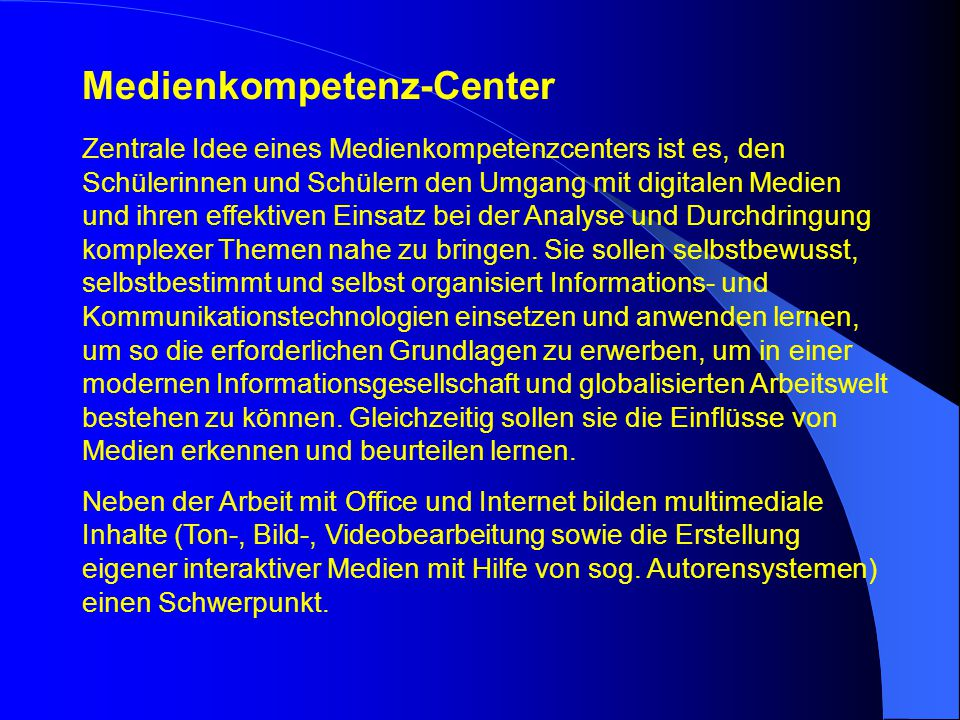 Medienkompetenz-Center