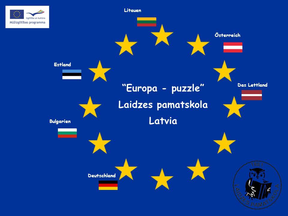 Europa - puzzle Laidzes pamatskola Latvia