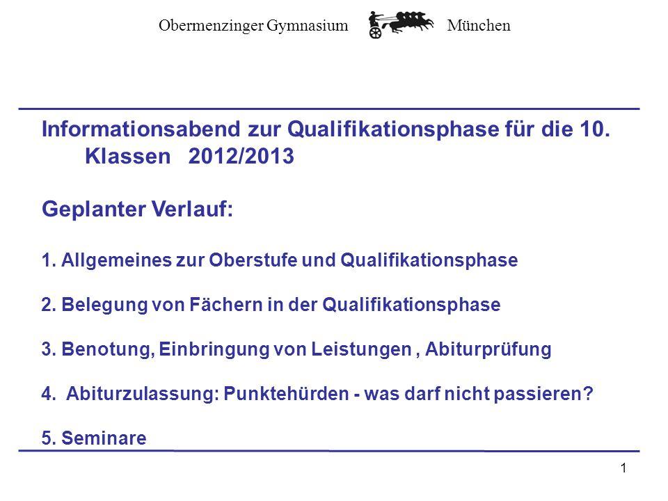 Informationsabend zur Qualifikationsphase für die 10. Klassen 2012/2013