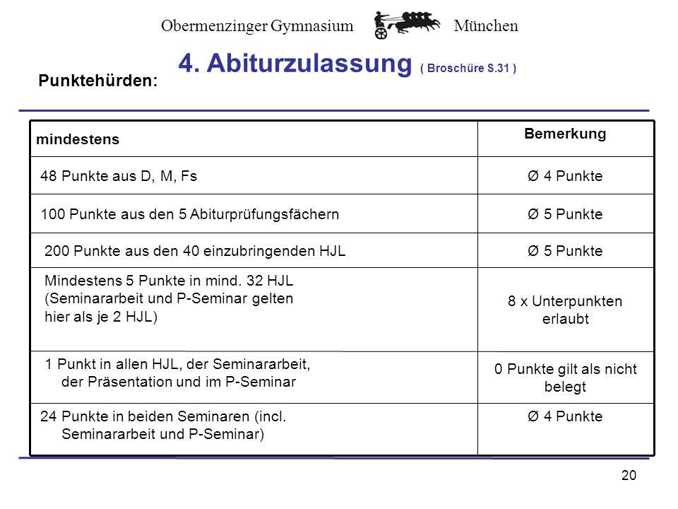 4. Abiturzulassung ( Broschüre S.31 )