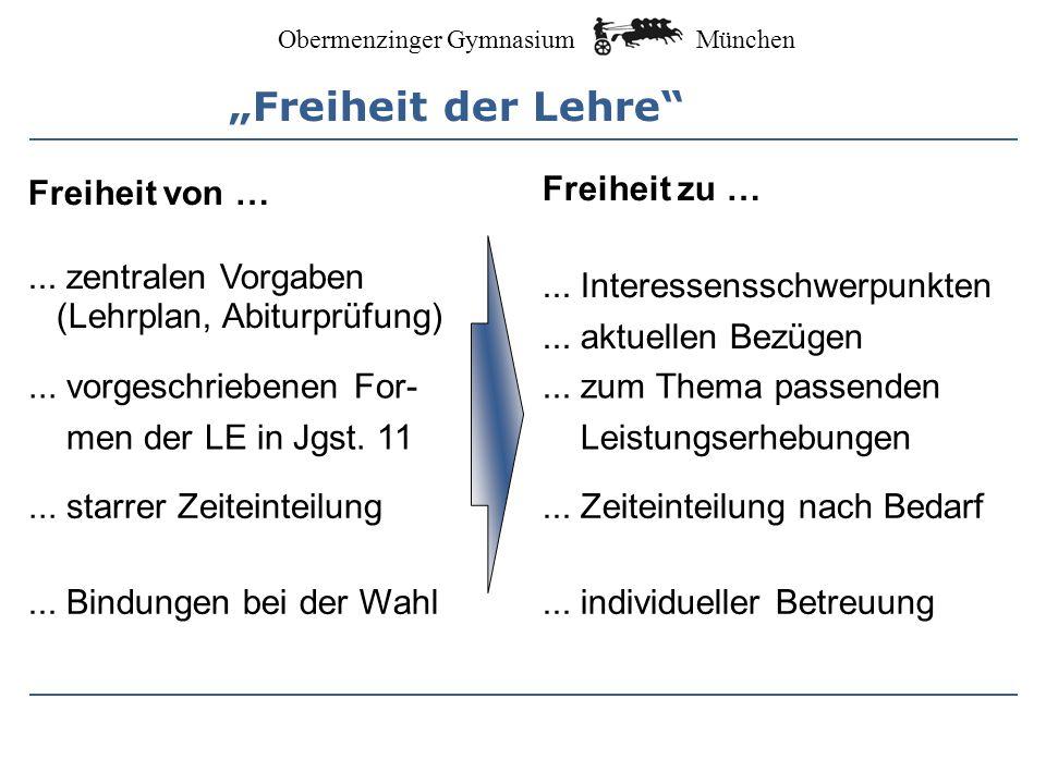 """""""Freiheit der Lehre Freiheit von … ... zentralen Vorgaben"""