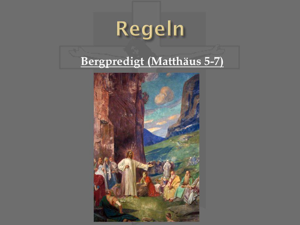 Bergpredigt (Matthäus 5-7)
