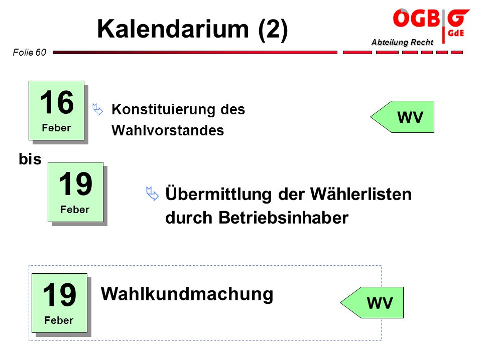 16 19 19 Kalendarium (2) Wahlkundmachung