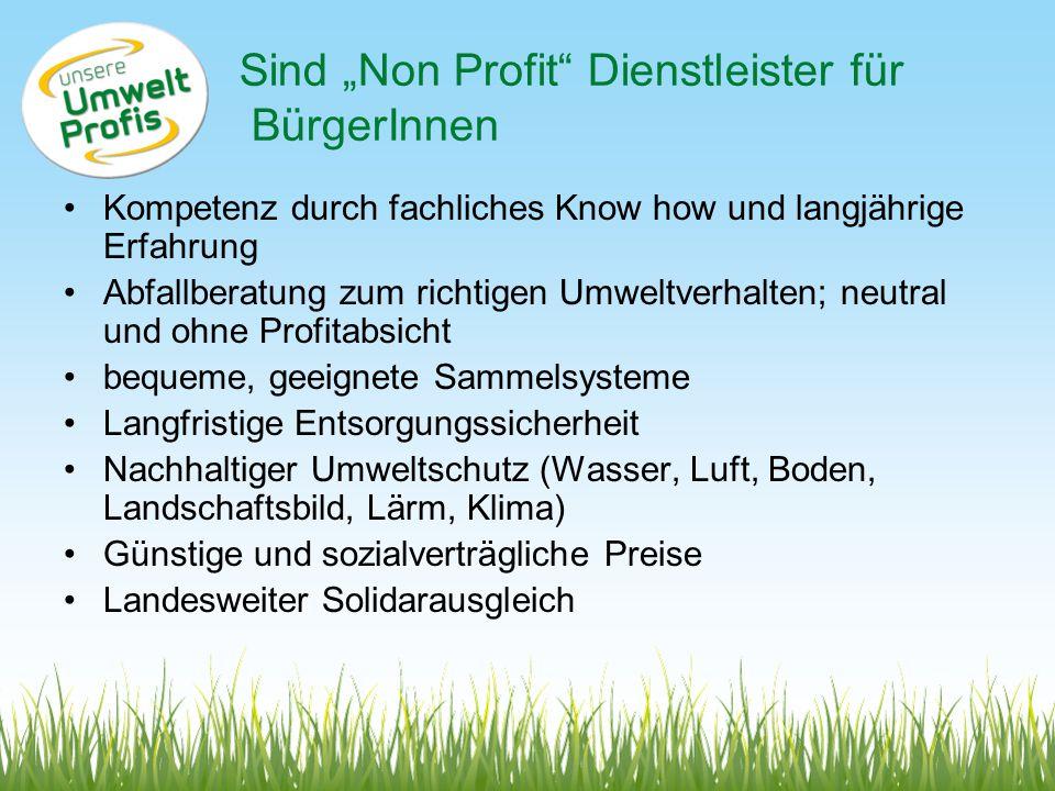 """Sind """"Non Profit Dienstleister für BürgerInnen"""